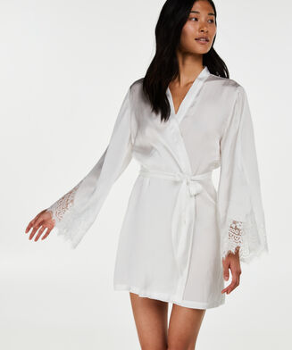 Kimono Satin lace, Wit
