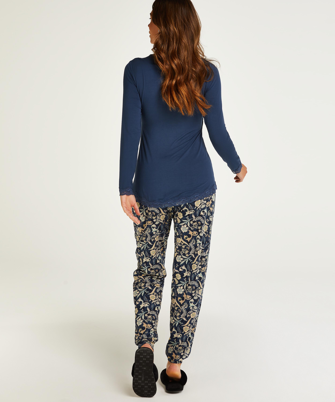 Voedings pyjamaset , Blauw, main