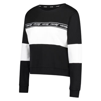HKMX Sweater Fleece Colourblock, Zwart