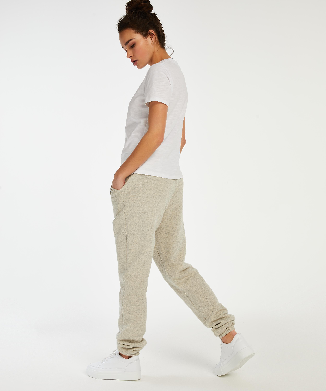 Pyjamatop korte mouwen Jersey, Wit, main