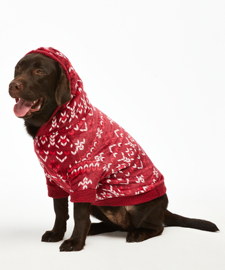 Fleece honden onesie, Rood