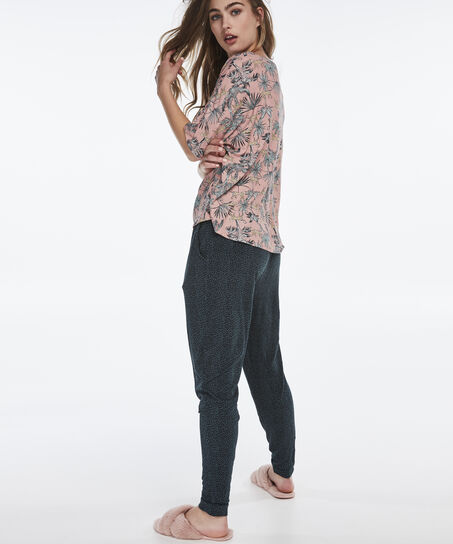 Korte mouwen pyjamatop Loose Fit , Roze