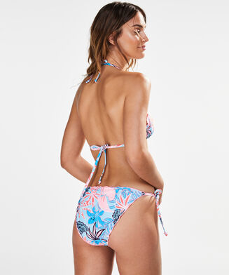 Triangle bikinitop Juxtaflo, Blauw