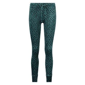 Legging Velours, Groen