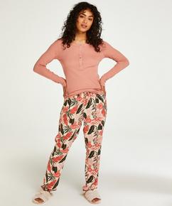 Petite pyjamabroek Woven, Beige