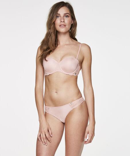 Voorgevormde strapless beugel bh Angie, Roze