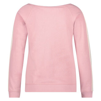 Off-shoulder trui, Roze
