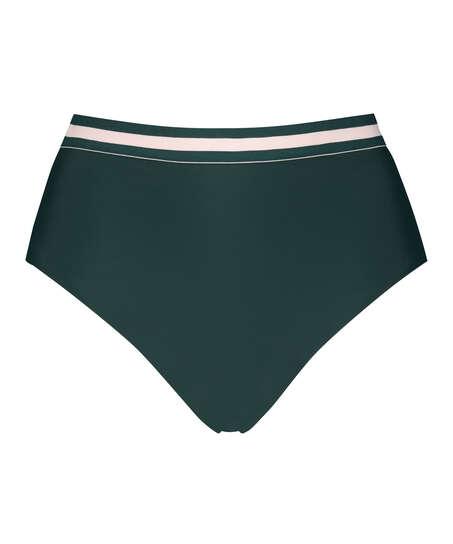 Hoog cheeky bikinibroekje Pinewood, Groen