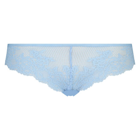 String Invisible lace front micro back, Blauw