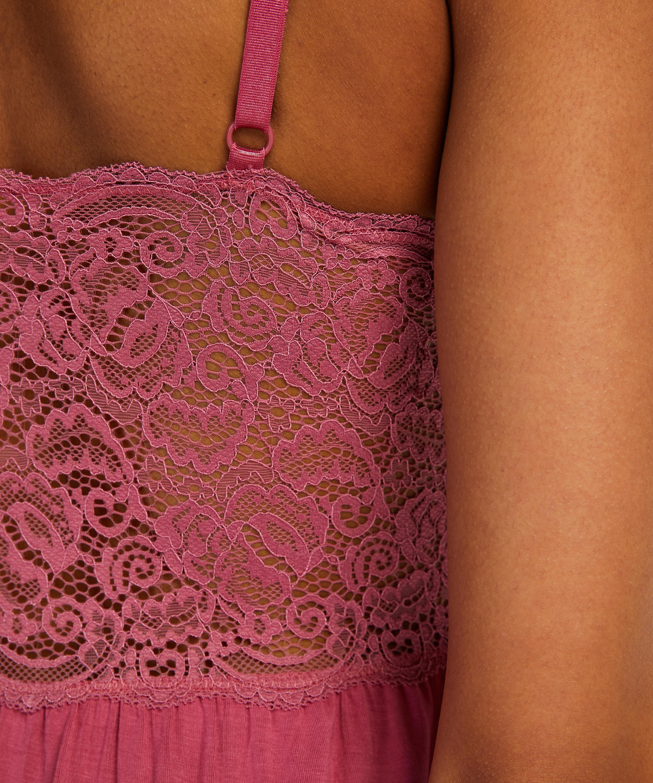 Slipdress Jersey lace Vera, Roze, main