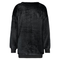 Top Fleece Rendier, Zwart