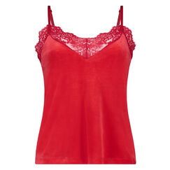 Cami Velours Lace, Rood