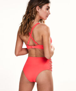 Hoog cheeky bikinibroekje Sunset Dream, Rood