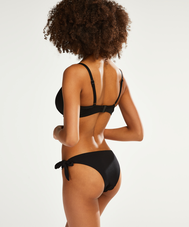 Brazilian bikinibroekje Scallop Goddess, Zwart, main