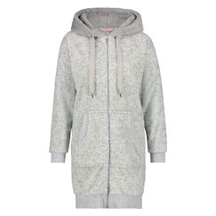 Badjas Fleece Zipper, Grijs