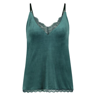 Cami Velours Lace, Groen