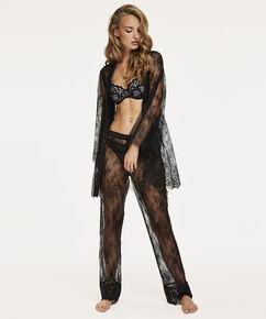 Pyjamabroek Allover Lace Doutzen, Zwart