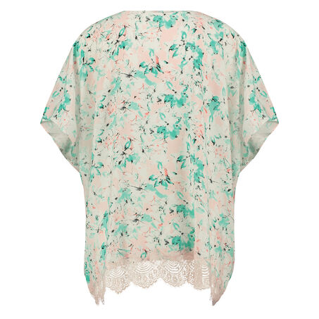 Kimono Macy lace print, Blauw