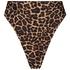 Hoog uitgesneden brazilian bikinibroekje Animal HKM x NA-KD, Bruin