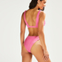 Hoog uitgesneden rio bikinibroekje Vintage HKM x NA-KD, Roze