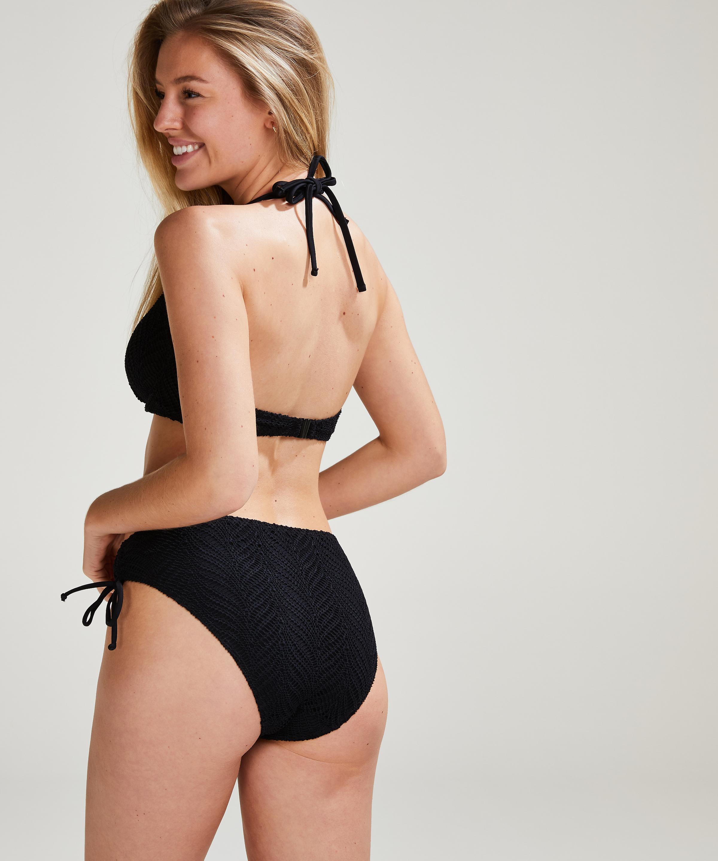 Bikini Top Crochet, Zwart, main