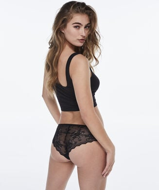 Invisible Brazilian Lace Back, Zwart