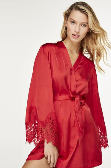 Hunkemöller Kimono Satin lace Rood