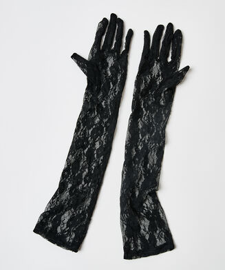 Private handschoenen kant, Zwart