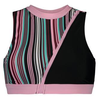 HKMX Bikini crop top, Wit