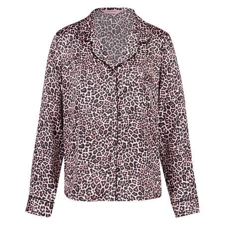 Pyjamatop Satin Print, Roze