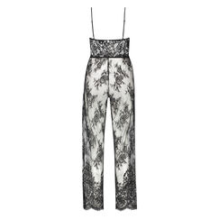 Jumpsuit All Over Lace, Zwart