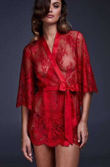 Hunkemoller Kimono Lace Isabelle Rood
