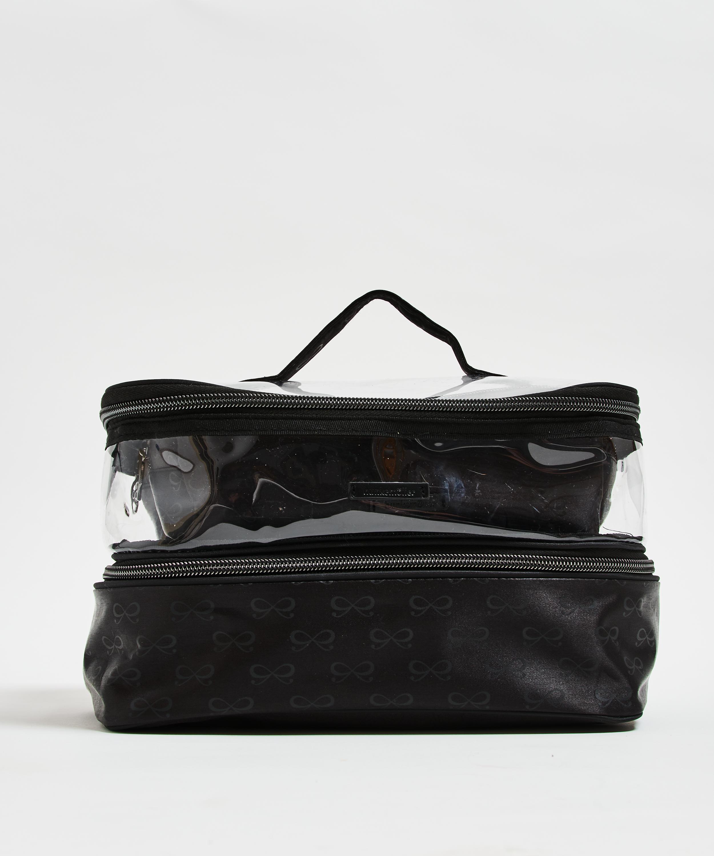 3-pack make up tas, Zwart, main