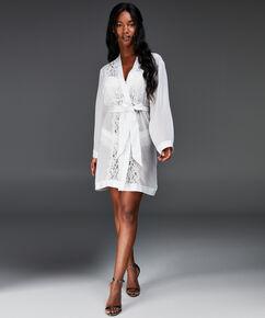 Kimono chiffon lace, Wit
