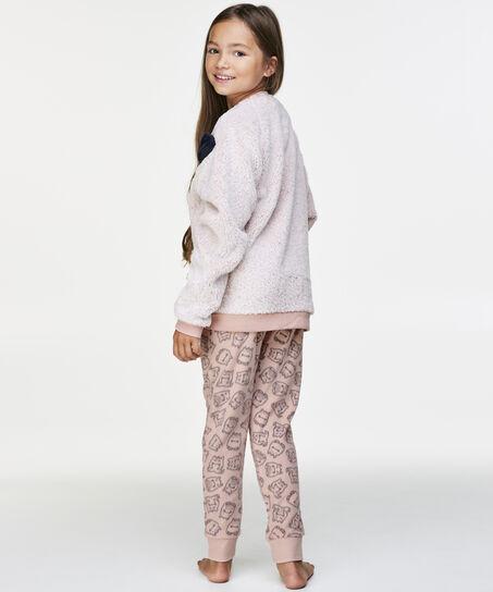 Fleece legging Teens, Roze