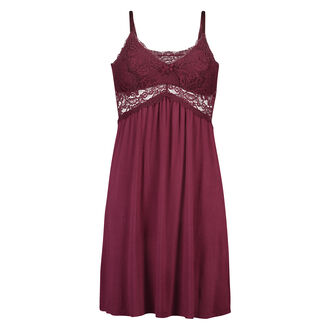 Slipdress Jersey lace, Rood