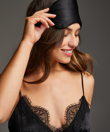 Slaapmasker zijde Noir, Zwart