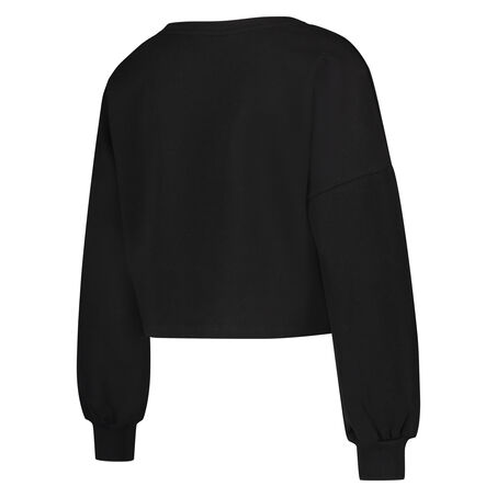 HKMX Cropped Sweater Doutzen, Zwart
