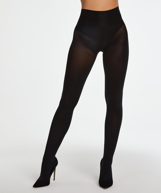 Naadloze Panty 60 Denier, Zwart, main