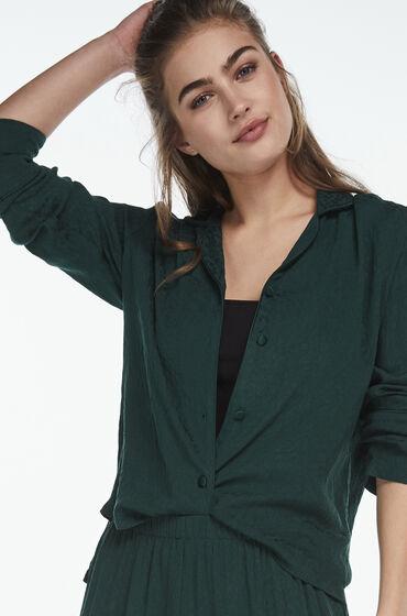 Van Hunkemöller Pyjama jasje woven jacquard Groen Prijsvergelijk nu!