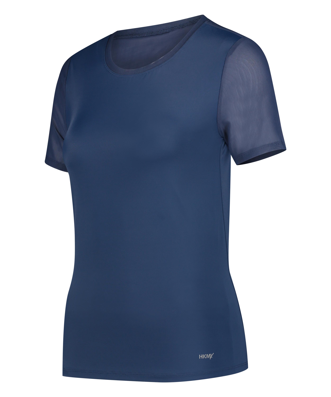 HKMX Sport Shirt Open Rug, Blauw, main