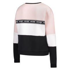 HKMX Sweater Fleece Colourblock, Roze