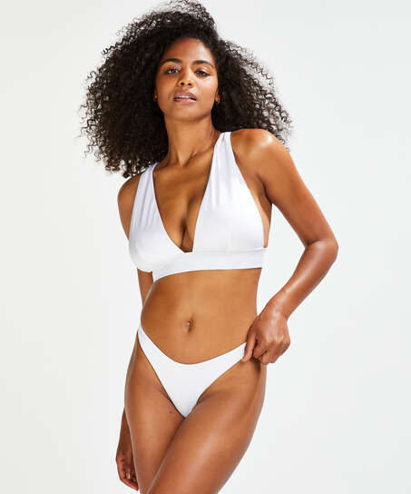 Triangle bikinitop Lola, Wit