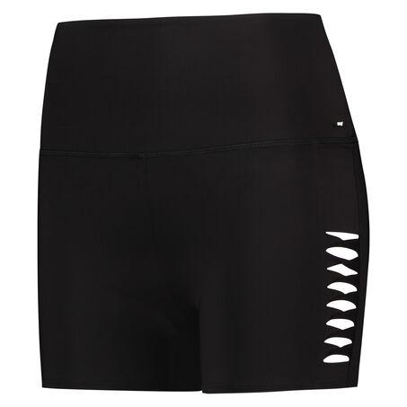HKMX high waisted shorts, Zwart