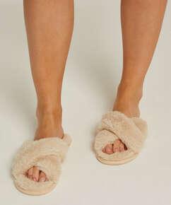 Cross Straps Indoor Sandal, Beige