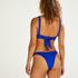 Hoog uitgesneden bikinibroekje Luxe, Blauw