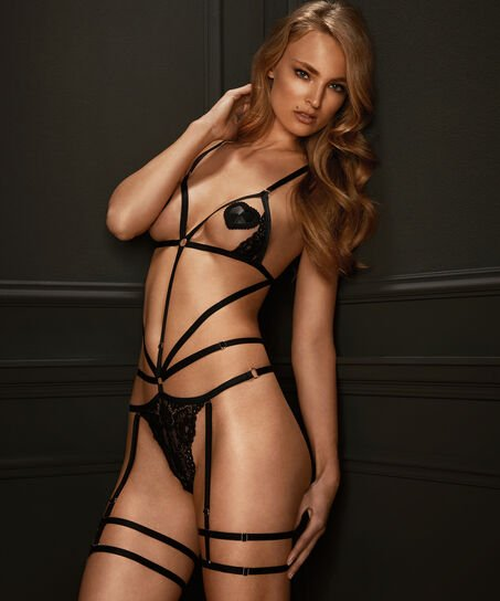 Body Strappy Bobby, Zwart