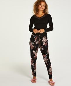 Petite Pyjamabroek Jersey, Zwart