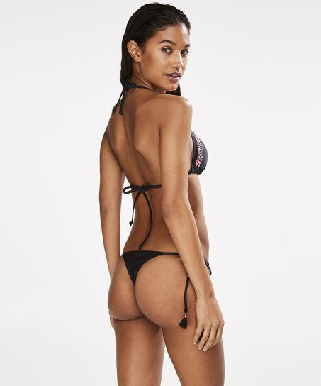 Tanga bikinistring Ethnic Bling, Zwart