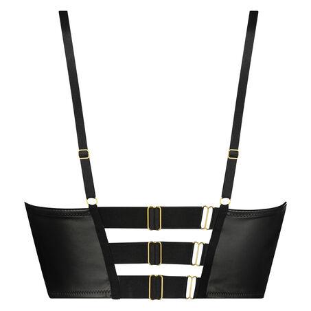 Voorgevormde push-up longline beugel bh Talia, Zwart